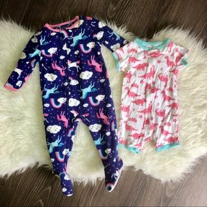 Carters baby girl pajamas
